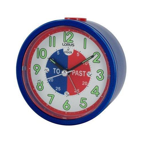 Price comparison product image Lorus Time Teacher Beep Alarm Clock - Blue by Lorus