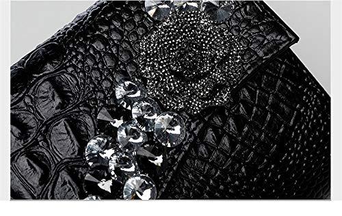 soirée Color 10x6inch soirée à de Noir Main fériés d'autres Classique Bal pour Enveloppe l'argent Et Pochette Solid de Sac Fashion Sacs De Parti de 25x15cm Diamants Incrusté Jours fqFEtxvEZw