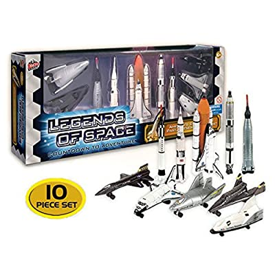 Legends of Space : Countdown to Adventure - History of American Space Flight, 10 piece set: Toys & Games
