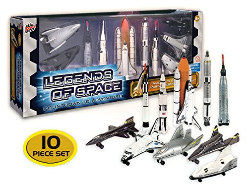 Legends of Space : Countdown to Adventure - History of American Space Flight, 10 piece - Adventure Nasa Toy