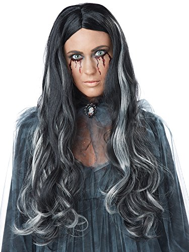 California Costumes Women's Bloody Mary Wig, Black/Gray One Size