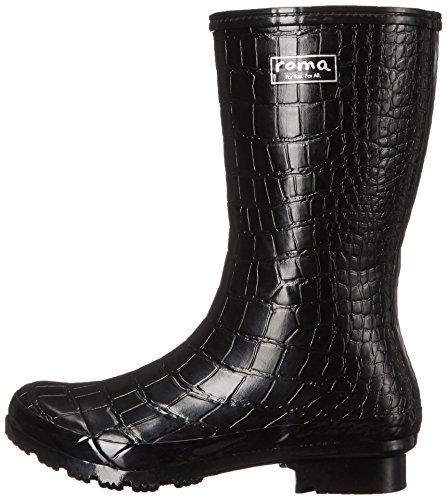 Boots Women's Mid Roma Boots Rain EMMA Black Crocodile vqdHP