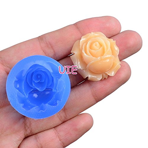 041LBH Flower / Rose Silicone Flexible Push Mold Miniature Food Sweets Jewelry Charms (Clay Fimo Resin Epoxy Gum Paste Fondant)