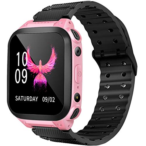 certainPL X7 Kids Smart Watch with GPS Locator Tracker, SOS, Camera, Flashlight, Waterproof Smartwatch Compatible with Android & iOS Phones (Pink)