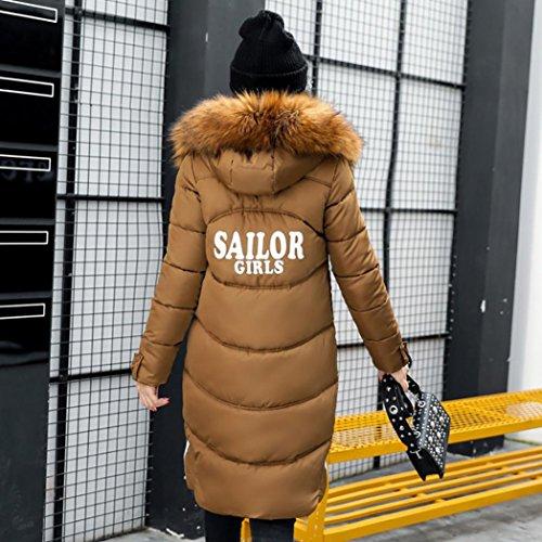 Di Più Spesso Rivestimento 2017 Inverno Cappotto Outwear Casuale Lammy Dimagrire Cachi Dayseventh Lungo Cappotto Donne qS4xY