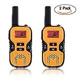 Image of GHB Walkie Talkies for Kids, 22 Channel Walkie Talkies 2 Way Radio 3 Miles up to 5 Miles FRS/GMRS Handheld Mini Walkie Talkies for Kids (Pair) (Orange)