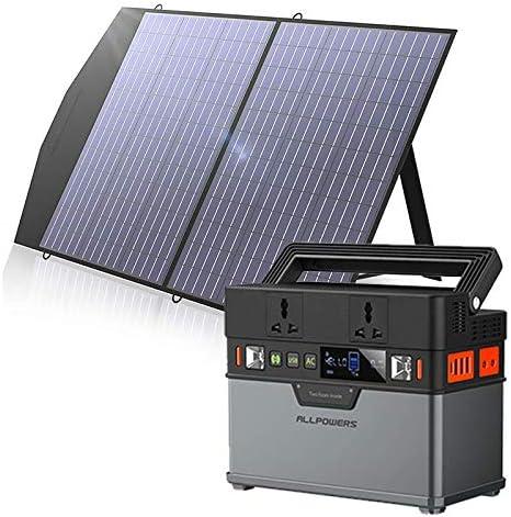 Allpowers - Cargador de panel solar portátil de 100 W para ...