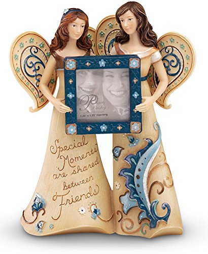 Perfectly Paisley Special Moments Pair of Angels Figurine, 5-1/2-Inch Tall, Includes Photo ()