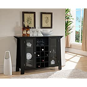 Kings Brand Furniture Matanuska Wood Buffet Bar Ca...