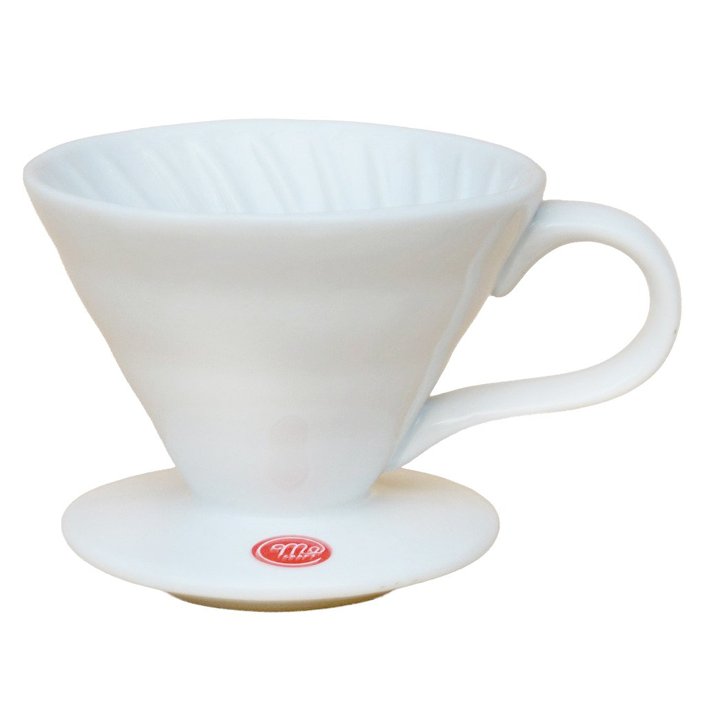 Mecraft Ceramic Pour Over Coffee Dripper,Giftbox (White)