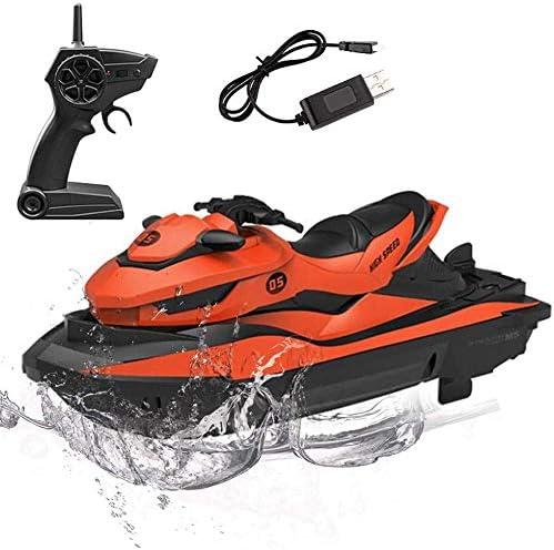 funkgesteuertes Wasserfahrzeugboot im Freien 10 km // h elektrisches Mini-Wasserfahrzeugboot f/ür Kinder und Erwachsene mit 2,4 GHz STOTOY RC-Boot ferngesteuerte Rennboote f/ür Pools und Seen