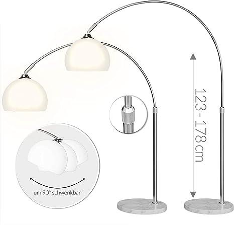 style pied ajustable salon à marbre années interrupteur incurvé socle en lampadaire 123 moderne rétro design arc à Lampe intérieur 70 réglable 178cm HDEIY29W