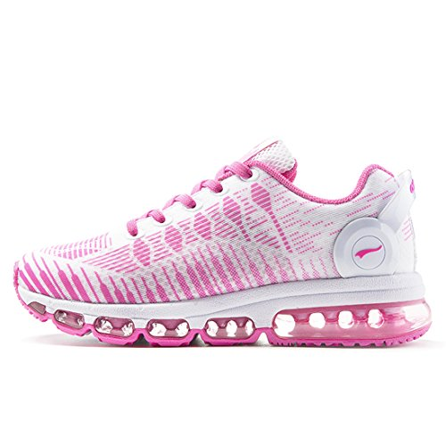 2016 New Women Sneakers Breathable Mesh Light Running Shoes (Pink) - 5