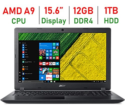 2018 Acer Aspire High Performance 15.6-inch HD Laptop, AMD A9-9420 Processor up to 3.6GHz, 12GB DDR4 RAM, 1TB HDD, AMD...