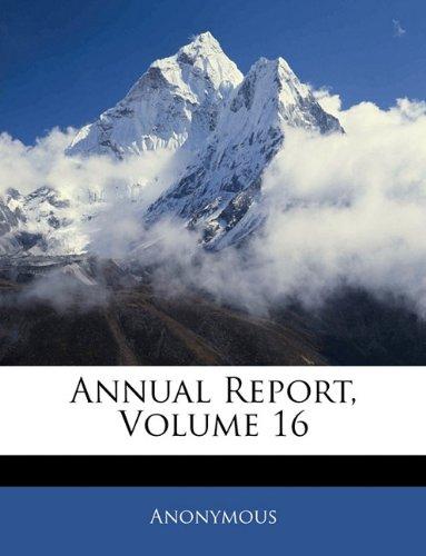 Download Annual Report, Volume 16 pdf epub