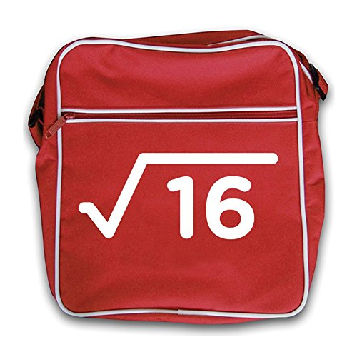 Quadratwurzel - 4. Geburtstag - Umhängetasche - 2 Farben Rot jAjhnPSExy