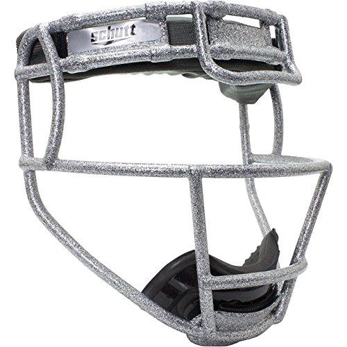 Softball Glitter (Schutt Youth Softball Fielder's Face Guard with Glitter SILVER)