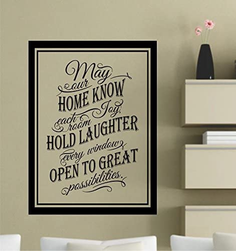 Amazon Com May Our Home Know Each Room Joy Hold Laughter Every Window Open To Great Possibilities Vinyl Wall Decals Quotes Sayings Words Art Decor Lettering Vinyl Wall Art Inspirational Uplifting Kitchen