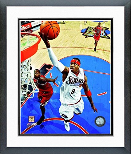 Allen Iverson Philadelphia 76ers NBA Action Photo (Size: 12.5'' x 15.5'') Framed by NBA