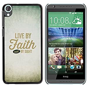 iBinBang / Funda Carcasa Cover Skin Case - Vivo en la fe Dios cristiano Dios Cielo Cristo - HTC Desire 820