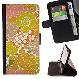 Jordan Colourful Shop - retro rustic wallpaper vintage yellow For Sony Xperia M2 - Leather Case Absorci???¡¯???€????€????????&c