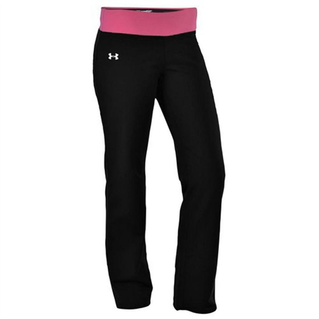 97cf265888f88 Amazon.com: Under Armour Women's UA DFO Semi-Fitted Yoga Pant-Black/ Hot  Pink-Small: Sports & Outdoors