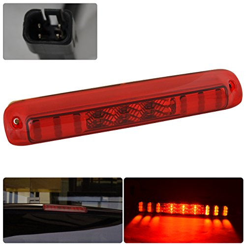 Red Housing Rear Led Brake Stop Lamp Light Lens Tail Replacement Cargo Bed Truck For Chevy Silverado Gmc Sierra 1500 2500 3500