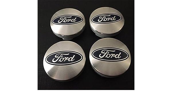 4 x Ford Plata Azul Logo 54 mm Buje tapas Buje Tapa Tapacubos Llanta Tapa Cilindro de Juego de tapas Focus Fiesta ST Mondeo S Max B de Max C MAX Galaxy ...