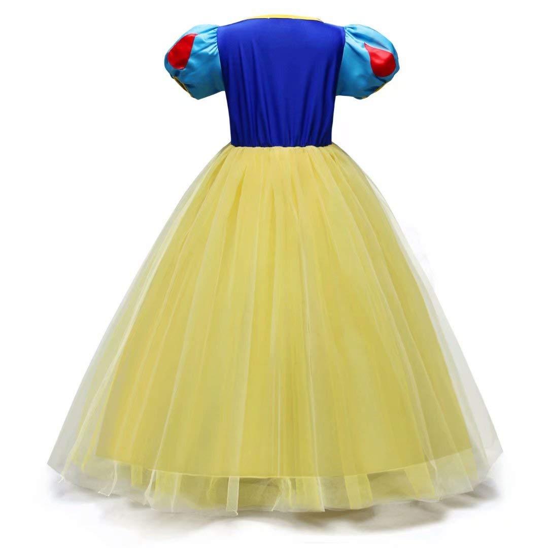 Tsyllyp Girl Snow White Coustume Princess Tutu Dress up Party Gown by Tsyllyp (Image #2)