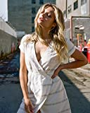 RVCA Junior's Rose Wrap Dress, Vintage White, S