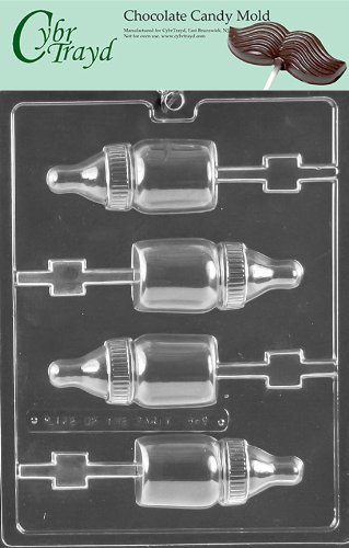 Cybrtrayd Life of the Party B069 Baby Bottle Lolly Baby Chocolate Candy Mold in Sealed Protective Poly Bag Imprinted with Copyrighted Cybrtrayd Molding Instructions