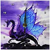 3dRose Fairytale Dragon Desk Clock, 6 by 6-Inch For Sale