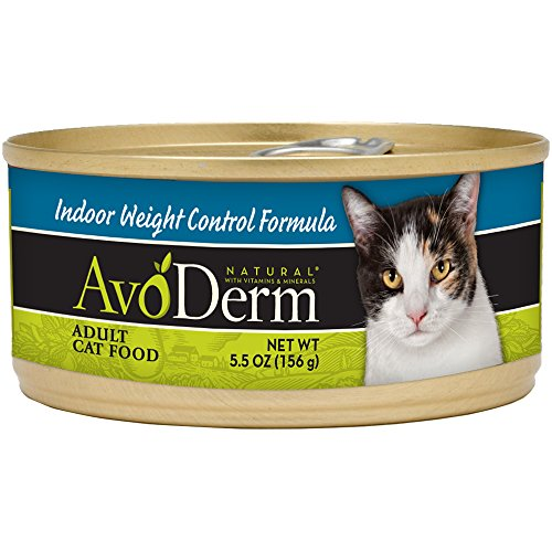 Avoderm Natural Indoor Weight Control Cat Food, 5.5-Ounce Cans, Case Of 24