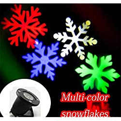 L&T STAR LED Outdoor Snowflake Projection Lamp Snow Lights Christmas Lights Outdoor Waterproof Lights Atmosphere Lights