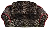 Pet Flys Leopard Print with Sangria Interior Pull Out Pet Sleeper Sofa Bed