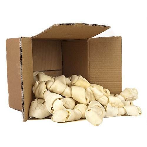 "51hC7rdVV4L - 8""-10"" Rawhide Bones - 16 Pack - Large Bones from Top Dog Chews"