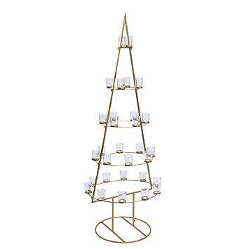 Weihnachtsbaum Kerzenhalter.Pureday Weihnachtsdeko Weihnachtsbaum Golden Tree Kerzenhalter