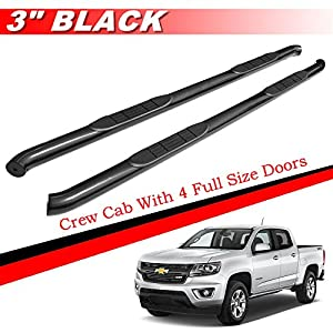mifeier 3 nerf bar side step running boards fit 2015 2016 chevy colorado gmc canyon. Black Bedroom Furniture Sets. Home Design Ideas