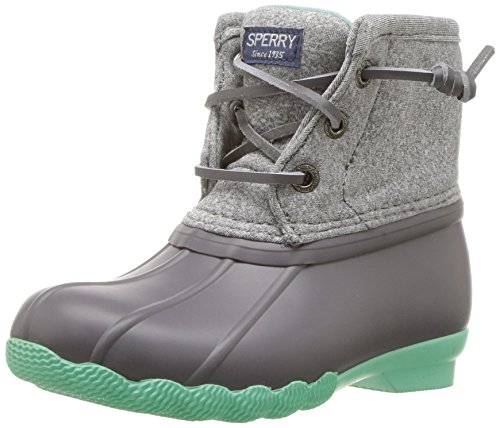 Sperry Girls' Saltwater Snow Boot, Grey/Mint, 9 Medium US Toddler by Sperry