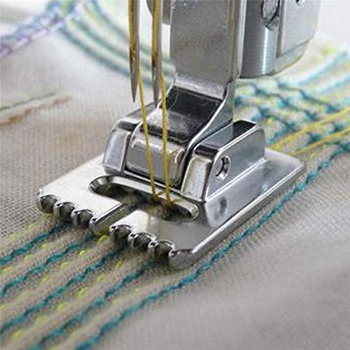 LySanSan - PIN TUCK SEWING FOOT SNAP ON, COMPATIBLE FOR BROTHER, JANOME, TOYOTA, NEW SINGER DOMESTIC SEWING MACHINES AA7015