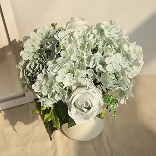 Fleurs en soie Décoration de maison Mosstars*1 Bouquet 8 Têtes Artificielle Pivoine Soie Fleur Feuille Maison Décoration De Noce