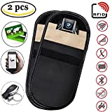 Signal Blocker Case - Car Key Fob Signal Blocking Pouch Bag, Keyless Entry Remote RFID Faraday Cage Car Key Protector Pouch WiFi/GSM/LTE/NFC/RF Blocker (2 Pack)