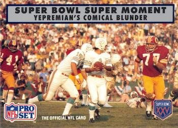 - Garo Yepremian football card (Miami Dolphins 1972) 1990 Pro Set #141 Super Bowl VII Super Moment