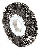 8'' Crimped Wire Wheel Brush, Arbor Hole Mounting, 0.055'' Wire Dia, 2'' Bristle Trim Length, 1 EA