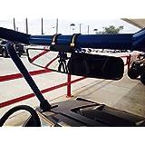 "16.5"" Extra Wide Panoramic Rear View Mirror for ROUND ROLL BAR Units Polaris/John Deere UTV"