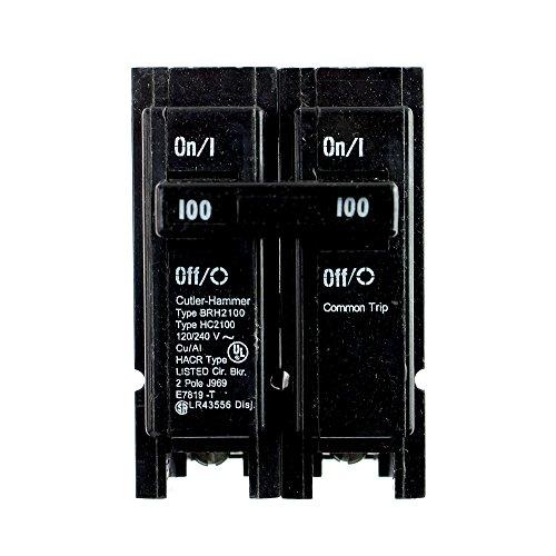 Eaton BRH2100 Plug-In Mount Type BR Circuit Breaker 2-Pole 100 Amp 120/240 Volt AC