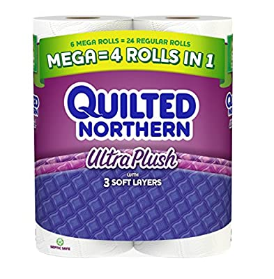 Quilted Northern Ultra Plush Toilet Paper, Bath Tissue, 6 Mega Rolls
