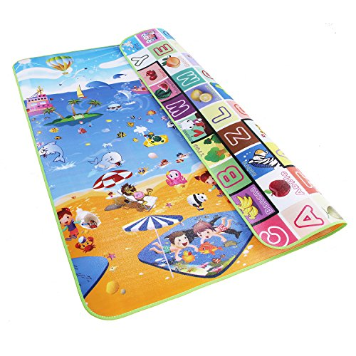 Garwarm 71×59inches Extra Large Baby Crawling Mat Non Toxic Baby Play Mat Game Mat,0.2 Inch Thick