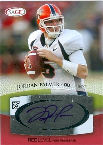 Autograph Warehouse 31739 Jordan Palmer Autographed Football Card College Football44; UTEP from Autograph Warehouse