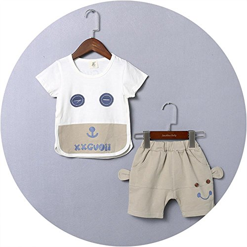 Ulove Baby Boy Sleepwear Short Pajamas Set Short Sleeve T-shirts and Stripe Shorts 2 Piece Set Cotton Clothes